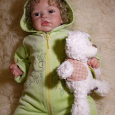 Малышка Сашенька, кукла реборн Натальи Фединой, Baby-Zest