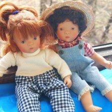 2000 White Ballon две куклы Мини-Минуш от Sylvia Natterer. Лондон и Майорка. Раритет!