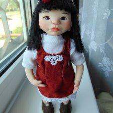 Маленькая японочка. Авторская кукла ручной работы