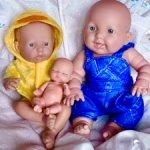 Три пупсика-малыша одним лотом