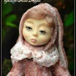 Анечка - маленькая зайка и Борька - обжорка хомячок, мои первые лепные куколки тедди долл