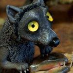 Ба-волк, новое существо ручной работы. Rioky Creatures