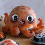 Пятничные суши, фотоистория. Сердитый кот и осьминог, новые существа от Rioky Creatures