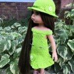 """Платье и шляпка """"Солнечное настроение"""" для Паола Рейна"""