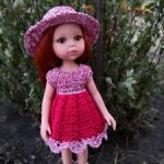 Комплект платье+шляпа для Паола Рейна