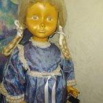 Деревянная большая итальянская кукла DOLFI.