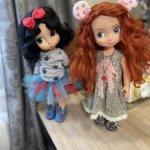 Пара очаровательных диснеевских принцесс