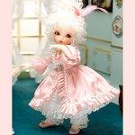 Одежда, балетки и парик литлфи (Macaron Pink for LittleFee)
