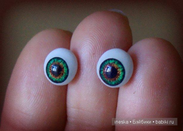 Нарисованные глаза для кукол своими руками