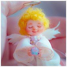 Добрый ангел авторская миниатюрная куколка Инессы Кирьяновой
