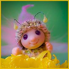 Жужик Пинки. Авторская куколка ©Инесса Кирьянова