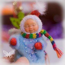 Снежный ангел. Авторская куколка