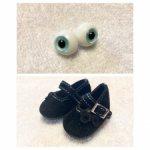 глазки и туфли для куклы
