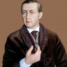 Портретные куклы Шерлок Холмс и Доктор Ватсон