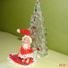 Новогодняя мини кукла, рост 4,5см