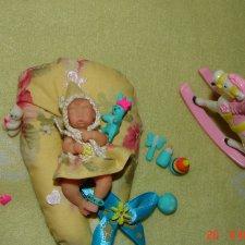 Виолетта - авторская мини кукла Ланы