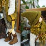 Сказочный комплект на Минифи из войлока: шляпка, сумка и шарф
