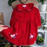 Платье вельветовое, винтаж, Франция, рост 78