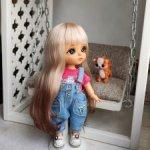 Парики из нежной козочки для кукол Lati, Nikki Britt, Татьяны Филенко, Luts и пр.