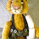Кот с колбасой. Авторские игрушки Инны Будагян