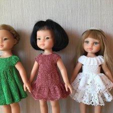 Вязанные платья на кукол Паола Рейна  и им подобным