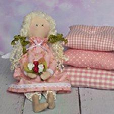 Принцессы на горошине, розовые текстильные куклы