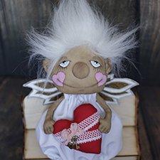 Ангелок-февралёк, текстильная кукла