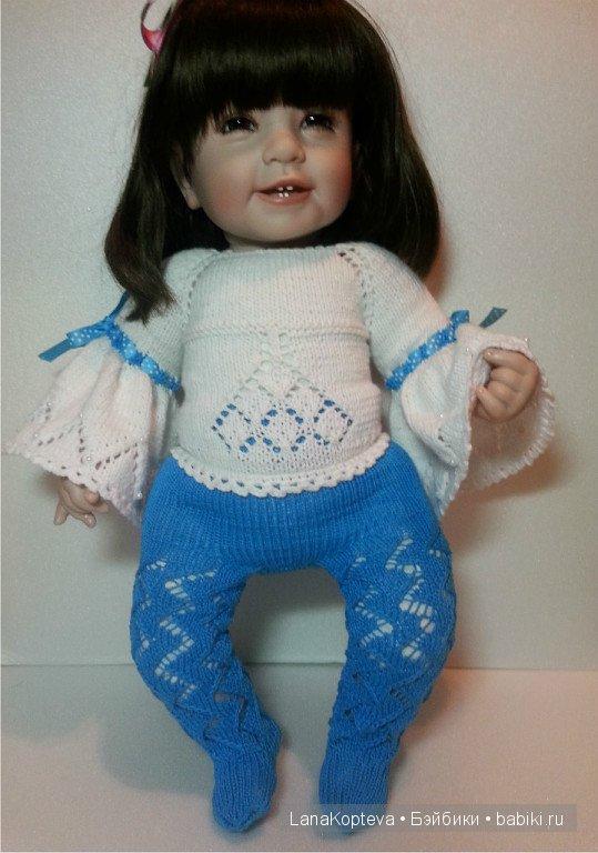 Вяжем колготки для куклы