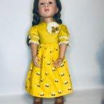 Платье и туфли  для куклы 48-50 см