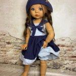 Комплект для кукол BB 18 дюймов Сильвия, Бейли, Саффи и  схожих формата кукол, готц, цвергназе