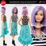 Новая Barbie Fashionistas Doll 18 Va-Va-Violet