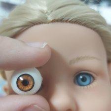 Замена глаз у Лотты Little kidz от Gotz