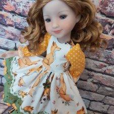 "Платьица для куколок Ruby red.  Коллекция ""Теплая зима"""