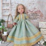 Льняное платье для куклы Готц 50см