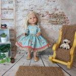 Платьица для куколок Gotz Little kidz.  Коллекция Осень-зима 2021