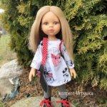 Кукла Карла в платье с Микки Маусами, 34 см, Paola Reina