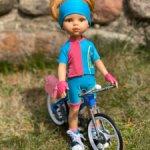 """Кукла Даша велосипедистка """"Хобби - Профессия"""" 32 см, Paola Reina"""