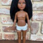 Кукла Мария мулатка с черными гофрирванными волосами, Vidal Rojas Muñecas