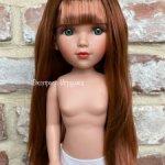 Кукла Мария рыжая с зелеными глазами и длинными волосами с челкой, Vidal Rojas Muñecas