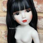 Кукла Мария Гейша выбеленная с супер длинными волосами, 41 см, Vidal Rojas Muñecas