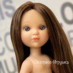 Кукла Ева шатенка с волосами до щиколоток и серыми глазами, без одежды, Berjuan