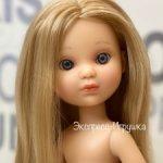 Кукла Ева блондинка с волосами до щиколоток и серыми глазами, без одежды, Berjuan
