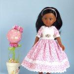 Электронный журнал с мастер-классом по шитью платья с вышивкой лентами для кукол Paola Reina