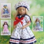 Журнал по шитью одежды для кукол Минуш/Minouche «Маленькая барышня. Летние прогулки»