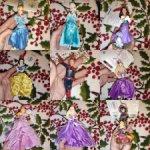 Ёлочные орнаменты принцессы