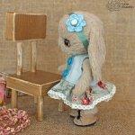 Заюшка Кнопа, игрушка ручной работы