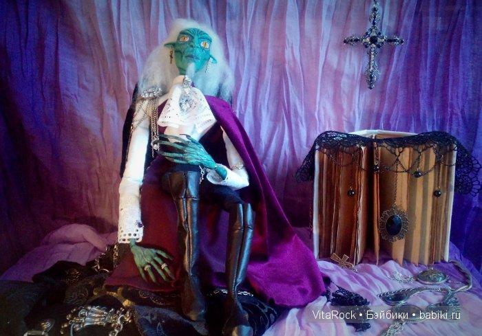 VitaRock, текстильно-шарнирная кукла, ручная_работа