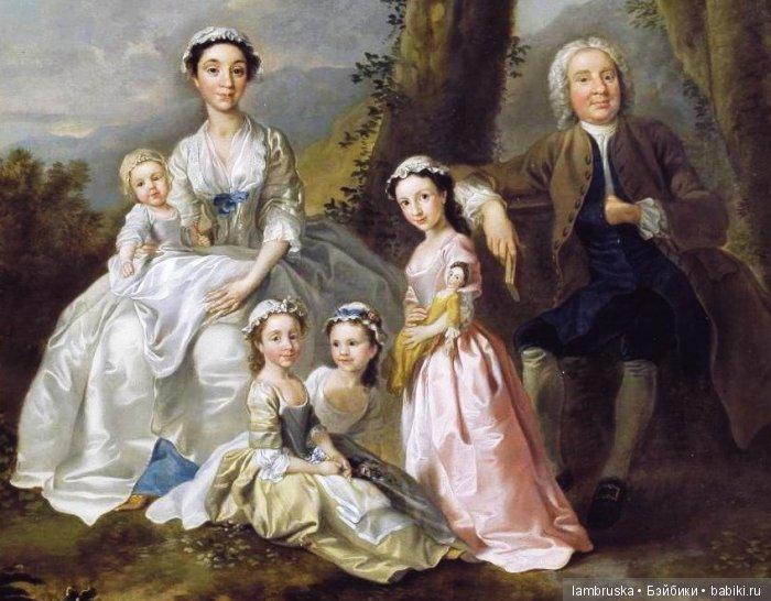 1740 Фрэнсис Хейман, Сэмюэл Ричардсон в окружении своей семьи