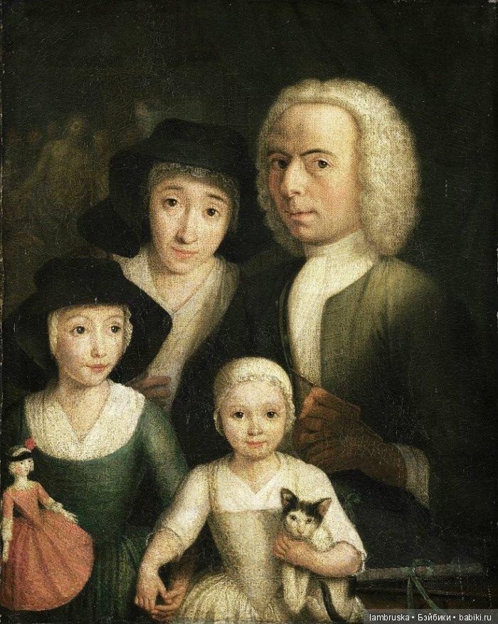 1760 ,Хендрик Шпильман,автопортрет с женой и детьми