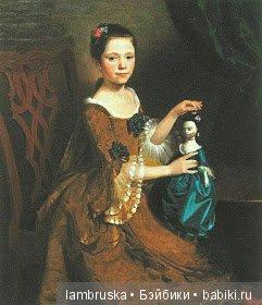1765 ,Неизвестный художник, девушка с куклой